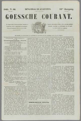 Goessche Courant 1865-08-29