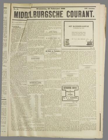 Middelburgsche Courant 1925-02-18