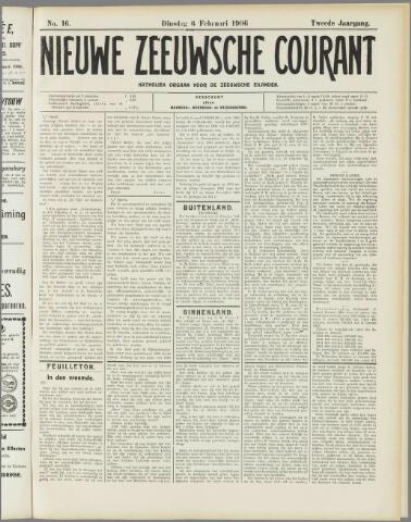 Nieuwe Zeeuwsche Courant 1906-02-06
