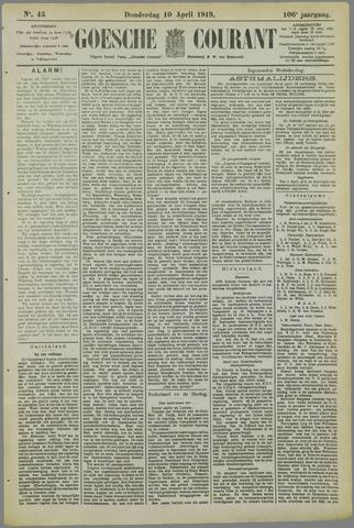 Goessche Courant 1919-04-10