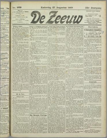 De Zeeuw. Christelijk-historisch nieuwsblad voor Zeeland 1918-08-17