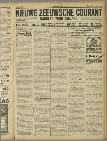 Nieuwe Zeeuwsche Courant 1921-04-09
