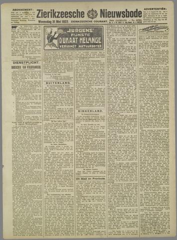 Zierikzeesche Nieuwsbode 1922-05-31