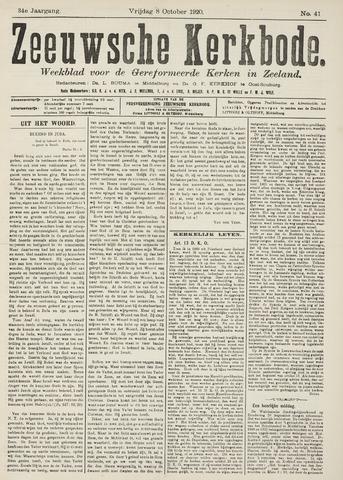 Zeeuwsche kerkbode, weekblad gewijd aan de belangen der gereformeerde kerken/ Zeeuwsch kerkblad 1920-10-08