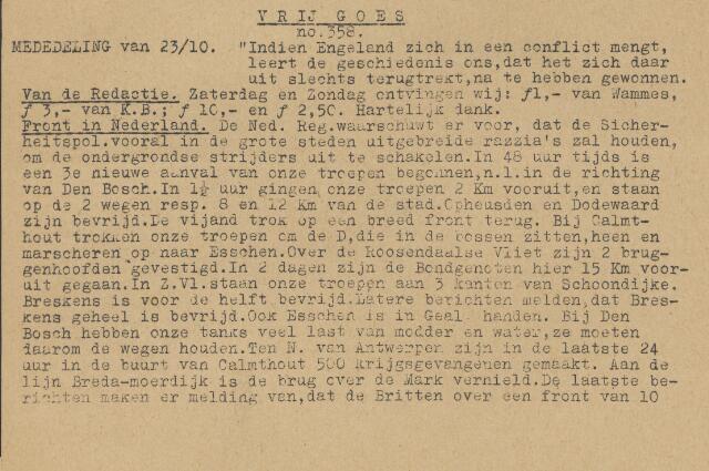 Vrij Goes 1944-10-23