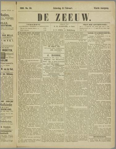 De Zeeuw. Christelijk-historisch nieuwsblad voor Zeeland 1890-02-15