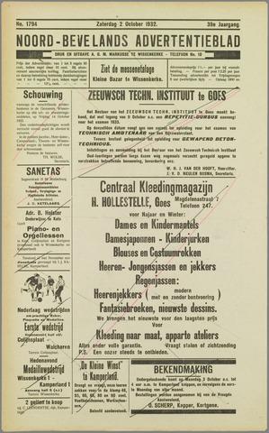 Noord-Bevelands Nieuws- en advertentieblad 1932-10-02