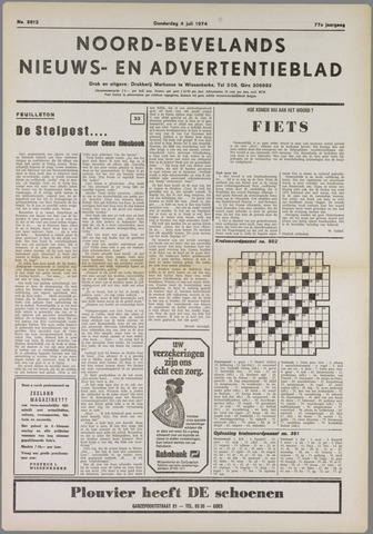 Noord-Bevelands Nieuws- en advertentieblad 1974-07-04