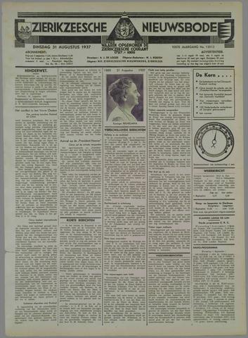 Zierikzeesche Nieuwsbode 1937-08-31