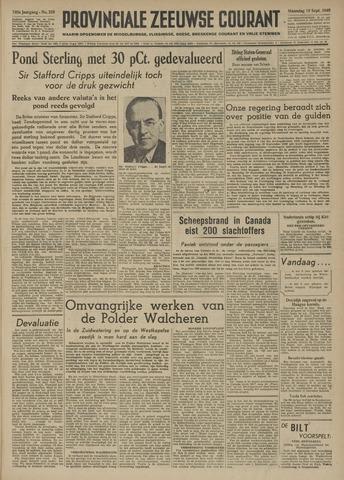 Provinciale Zeeuwse Courant 1949-09-19