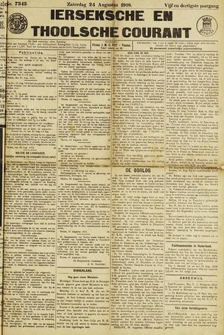 Ierseksche en Thoolsche Courant 1918-08-24