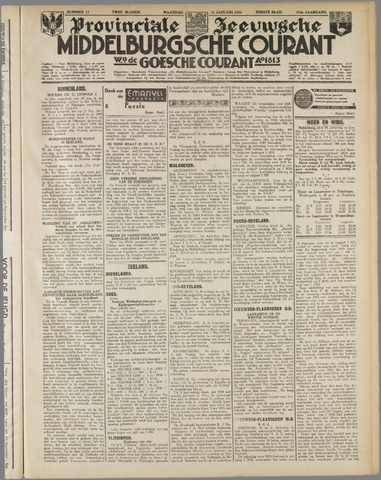 Middelburgsche Courant 1935-01-21