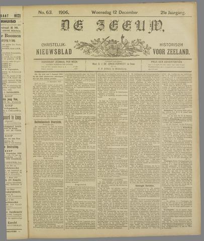 De Zeeuw. Christelijk-historisch nieuwsblad voor Zeeland 1906-12-12