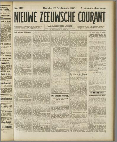 Nieuwe Zeeuwsche Courant 1918-09-17