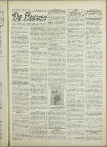 De Zeeuw. Christelijk-historisch nieuwsblad voor Zeeland 1943-03-24
