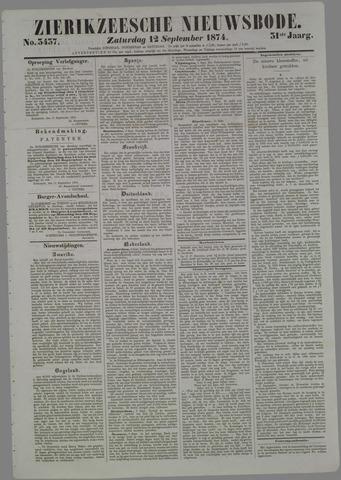 Zierikzeesche Nieuwsbode 1874-09-12