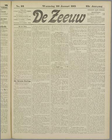 De Zeeuw. Christelijk-historisch nieuwsblad voor Zeeland 1915-01-20
