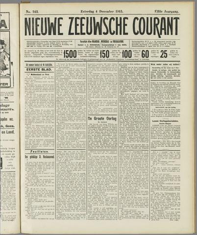 Nieuwe Zeeuwsche Courant 1915-12-04