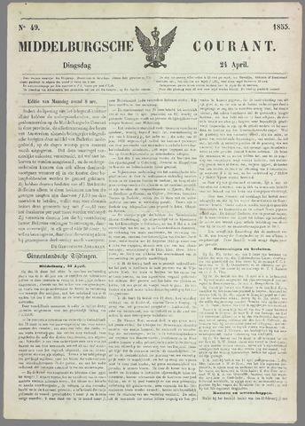 Middelburgsche Courant 1855-04-24
