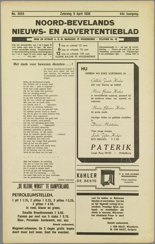 Noord-Bevelands Nieuws- en advertentieblad 1938-04-09