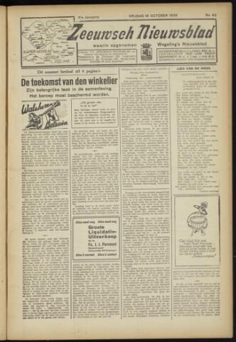 Zeeuwsch Nieuwsblad/Wegeling's Nieuwsblad 1935-10-18
