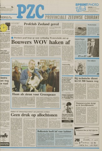 Provinciale Zeeuwse Courant 1992-03-28