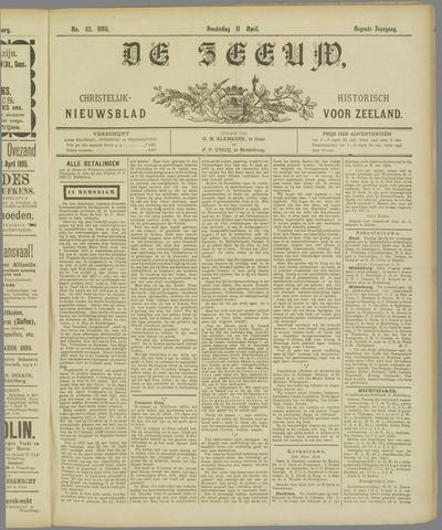 De Zeeuw. Christelijk-historisch nieuwsblad voor Zeeland 1895-04-11