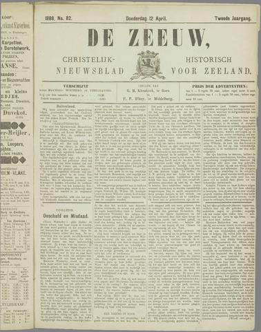 De Zeeuw. Christelijk-historisch nieuwsblad voor Zeeland 1888-04-12