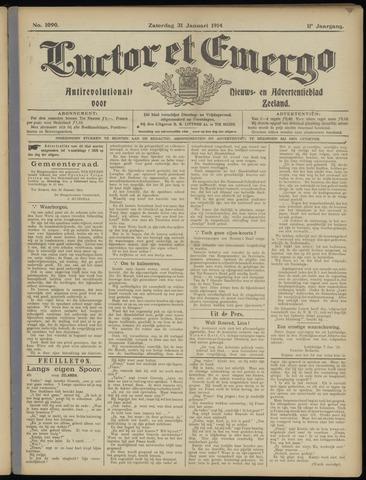 Luctor et Emergo. Antirevolutionair nieuws- en advertentieblad voor Zeeland / Zeeuwsch-Vlaanderen. Orgaan ter verspreiding van de christelijke beginselen in Zeeuwsch-Vlaanderen 1914-01-31