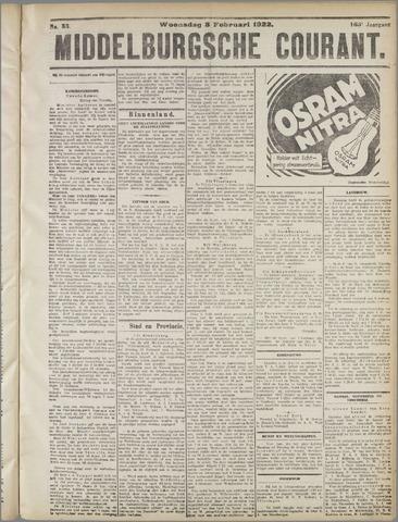 Middelburgsche Courant 1922-02-08