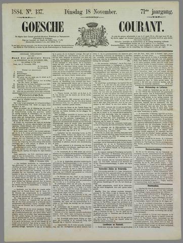 Goessche Courant 1884-11-18
