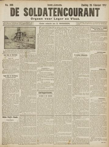 De Soldatencourant. Orgaan voor Leger en Vloot 1917-02-25