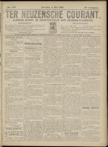 Ter Neuzensche Courant. Algemeen Nieuws- en Advertentieblad voor Zeeuwsch-Vlaanderen / Neuzensche Courant ... (idem) / (Algemeen) nieuws en advertentieblad voor Zeeuwsch-Vlaanderen 1920-05-15