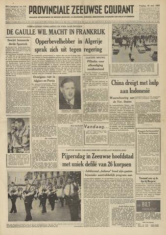 Provinciale Zeeuwse Courant 1958-05-16