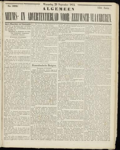 Ter Neuzensche Courant. Algemeen Nieuws- en Advertentieblad voor Zeeuwsch-Vlaanderen / Neuzensche Courant ... (idem) / (Algemeen) nieuws en advertentieblad voor Zeeuwsch-Vlaanderen 1875-09-29