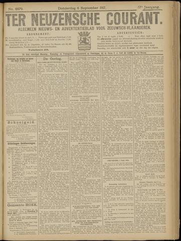 Ter Neuzensche Courant. Algemeen Nieuws- en Advertentieblad voor Zeeuwsch-Vlaanderen / Neuzensche Courant ... (idem) / (Algemeen) nieuws en advertentieblad voor Zeeuwsch-Vlaanderen 1917-09-06