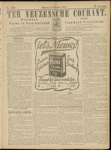 Ter Neuzensche Courant. Algemeen Nieuws- en Advertentieblad voor Zeeuwsch-Vlaanderen / Neuzensche Courant ... (idem) / (Algemeen) nieuws en advertentieblad voor Zeeuwsch-Vlaanderen 1912-02-06
