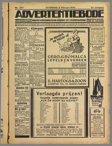 Advertentieblad. Gratis weekblad voor Goeree en Overflakkee 1930-02-08