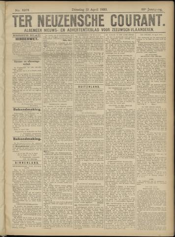 Ter Neuzensche Courant. Algemeen Nieuws- en Advertentieblad voor Zeeuwsch-Vlaanderen / Neuzensche Courant ... (idem) / (Algemeen) nieuws en advertentieblad voor Zeeuwsch-Vlaanderen 1920-04-13