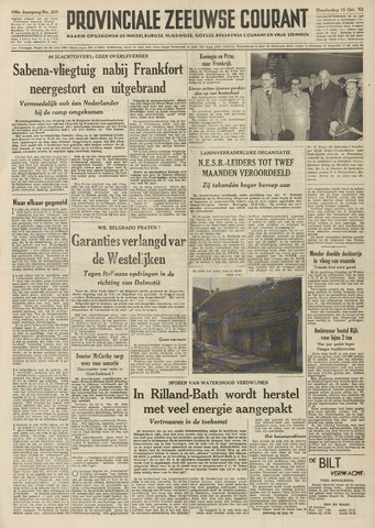 Provinciale Zeeuwse Courant 1953-10-15