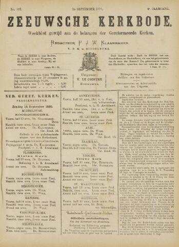 Zeeuwsche kerkbode, weekblad gewijd aan de belangen der gereformeerde kerken/ Zeeuwsch kerkblad 1890-09-13