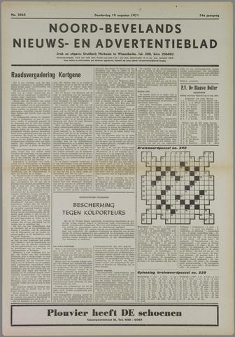 Noord-Bevelands Nieuws- en advertentieblad 1971-08-19