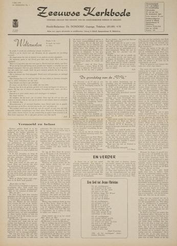 Zeeuwsche kerkbode, weekblad gewijd aan de belangen der gereformeerde kerken/ Zeeuwsch kerkblad 1970-07-02