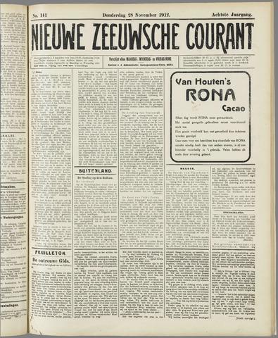 Nieuwe Zeeuwsche Courant 1912-11-28