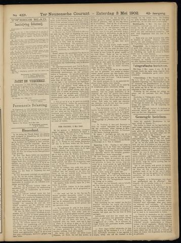 Ter Neuzensche Courant. Algemeen Nieuws- en Advertentieblad voor Zeeuwsch-Vlaanderen / Neuzensche Courant ... (idem) / (Algemeen) nieuws en advertentieblad voor Zeeuwsch-Vlaanderen 1902-05-03