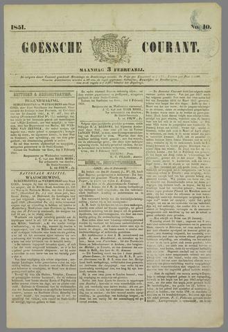 Goessche Courant 1851-02-03