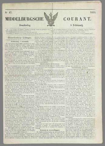 Middelburgsche Courant 1855-02-08