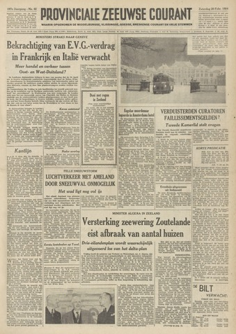 Provinciale Zeeuwse Courant 1954-02-20