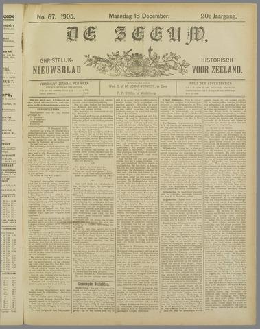 De Zeeuw. Christelijk-historisch nieuwsblad voor Zeeland 1905-12-18