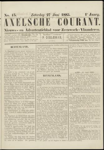 Axelsche Courant 1885-06-27